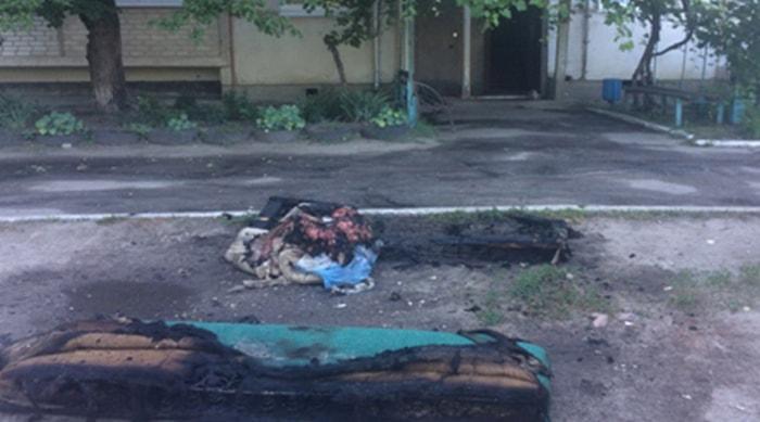 Пожар на Оксаны Петрусенко