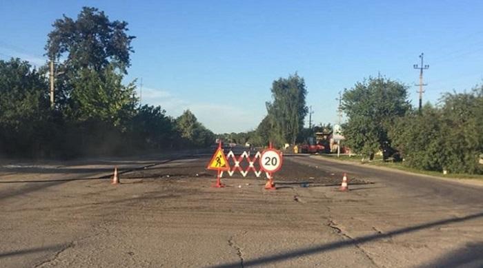 Появились фото ремонта дороги в Балаклее