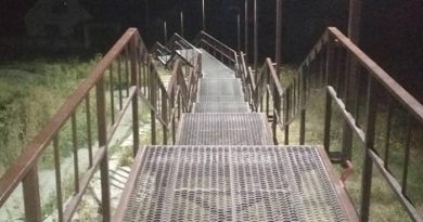 В Балаклее завершаются работы с устройством лестницы до микрорайона Лагеря