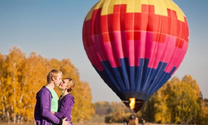 Признаться в любви на воздушном шаре