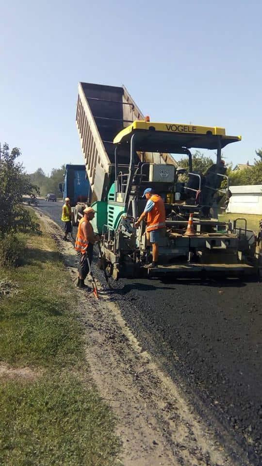 Закінчено ремонт ділянки в смт Андріївка - ФОТО