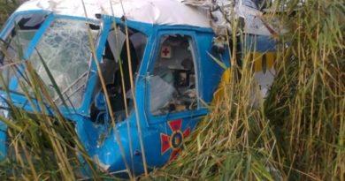 Во время проведения спасательной операции под Харьковом разбился вертолет