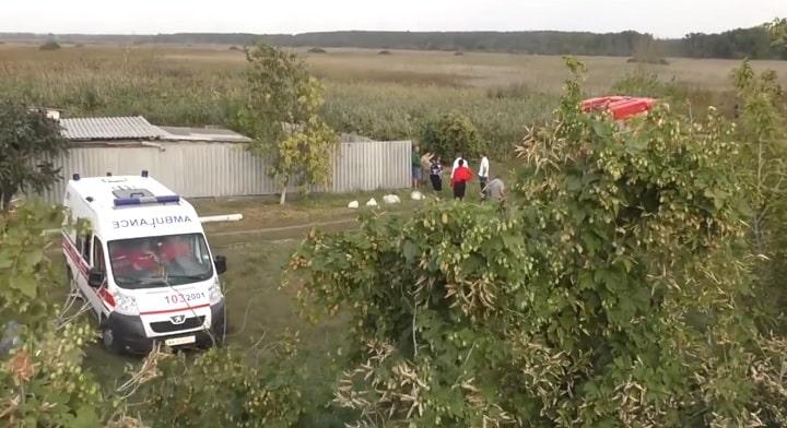 На Харьковщине упал вертолет - ВИДЕО