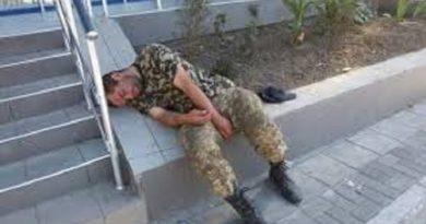 В Балаклее поймали пьяных военных на службе