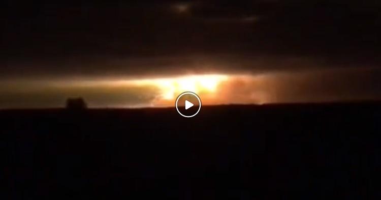 В Черниговской области горят военные склады, - ВИДЕО