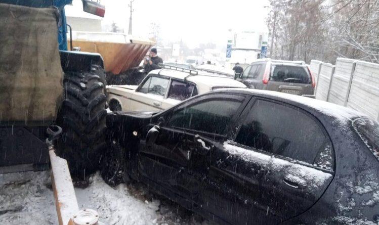 Трактор авария