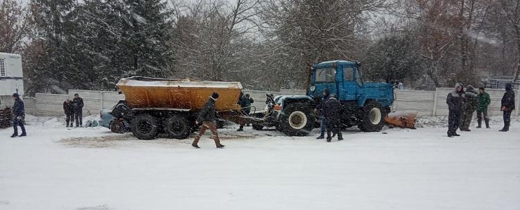 Авария трактор