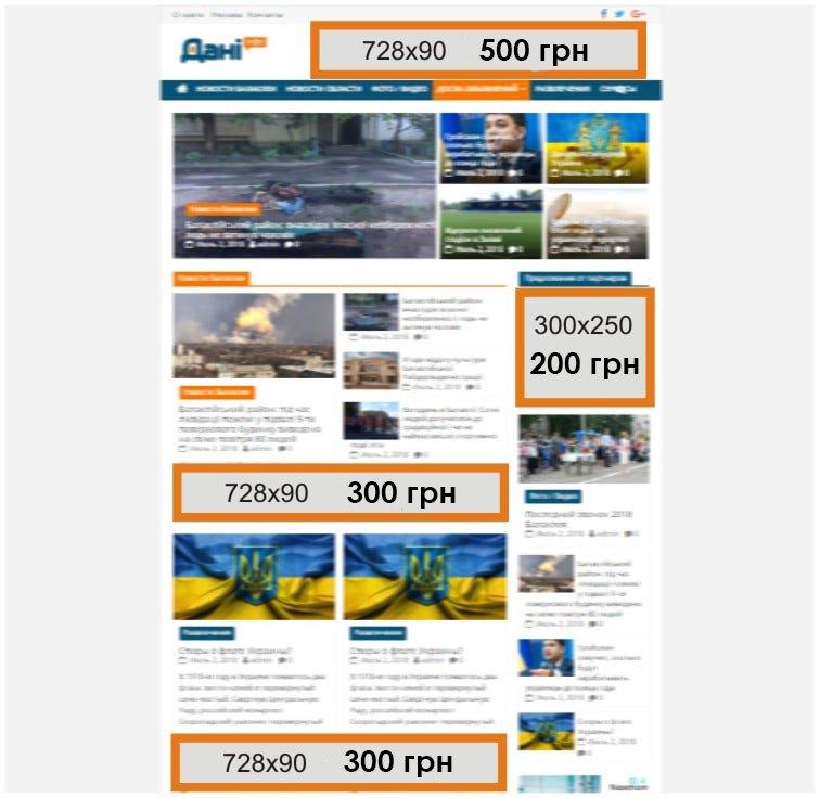сайт реклама цені 2
