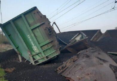 В Кривом Роге сошел с рельсов грузовой поезд
