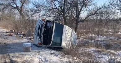 ДТП с микроавтобусом