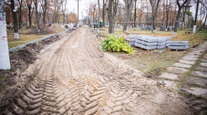 щодо реконструкції парку на пл. Ростовцева