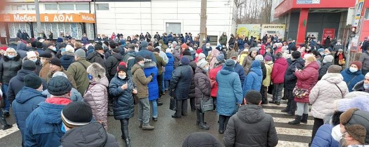 в Харькове перекрыли проспект