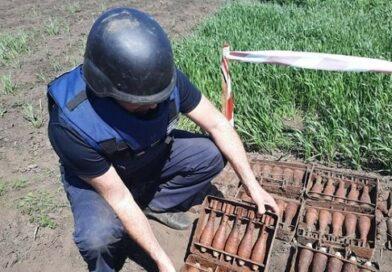 Житель Харьковщины выкопал на огороде 163 снаряда времен Второй мировой войны
