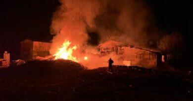 В Андреевке во время пожара на пилораме погиб мужчина