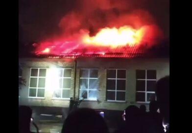 В Чугуєві пожежа в школі