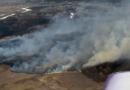 В Андреевке третьи сутки тушат пожар возле Северского Донца